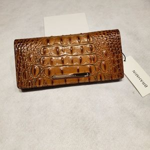 NWT BRAHMIN ADY TOASTED ALMOND WALLET